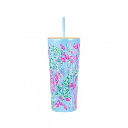 Lilly Pulitzer Tumbler with Straw (24 oz) - Best Fishes