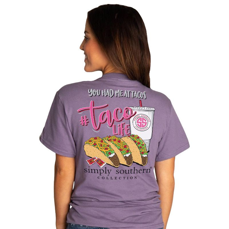 Taco Life (Plum) Simply Southern Tee
