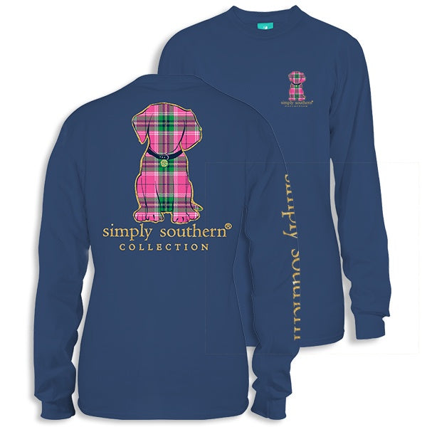 Youth Preppy Puppy (Moonrise)  Long Sleeve Simply Southern
