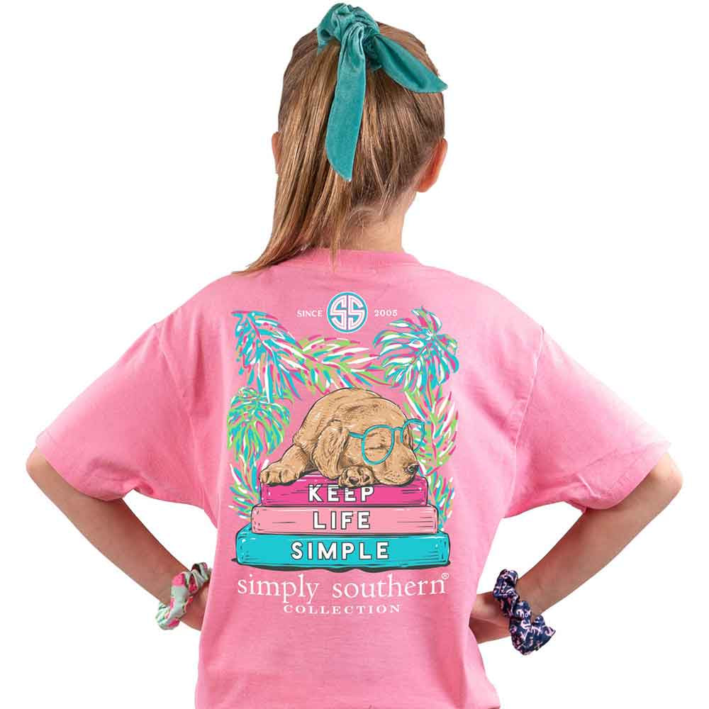 Youth Keep Life Simple (Flamingo) Simply Southern Tee