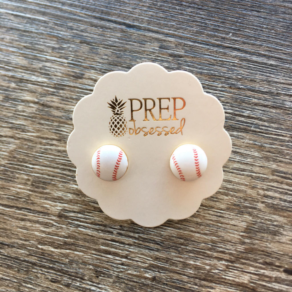 Baseball Ball Signature Enamel Studs