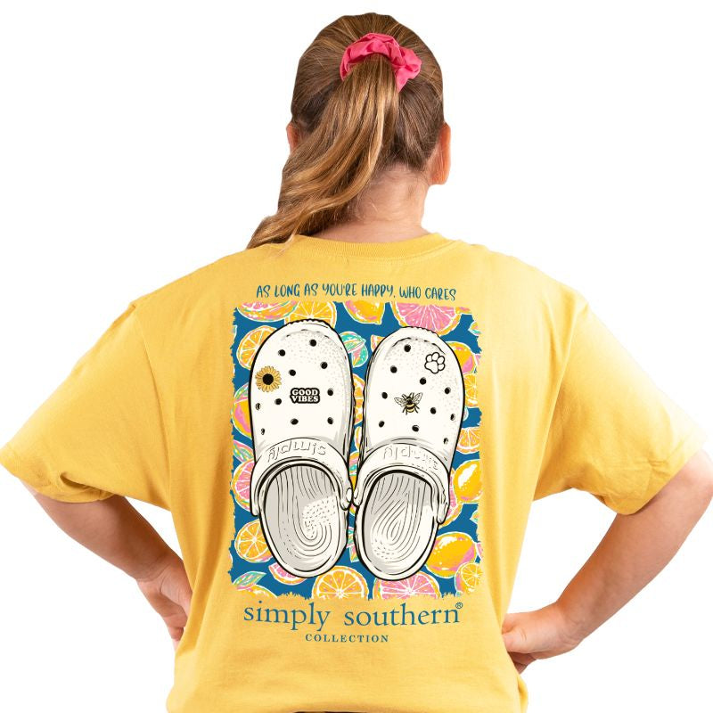 Youth Clogs (Sunflower) Simply Southern Tee