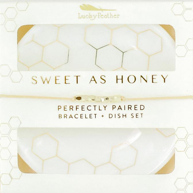 Bracelet + Dish Set - HONEY