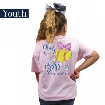 Youth Preppy Softball (Lulu) Simply Southern Tee