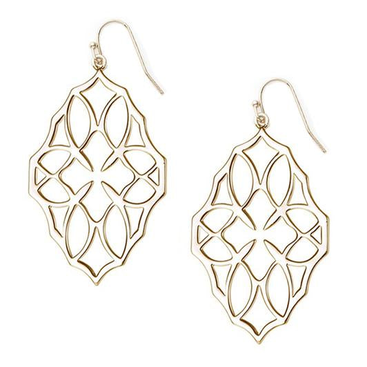 Believer Large Drop Earrings - Gold