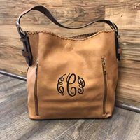Boston Hobo Bag ($6 to monogram each bag)