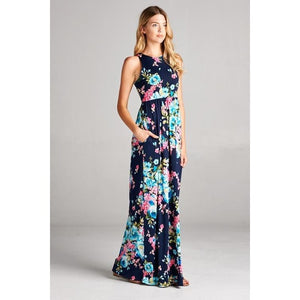 Addison Floral Racerback Maxi Dress