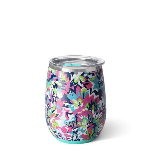 Swig 14 oz Stemless Wine Cup - Frilly Lilly