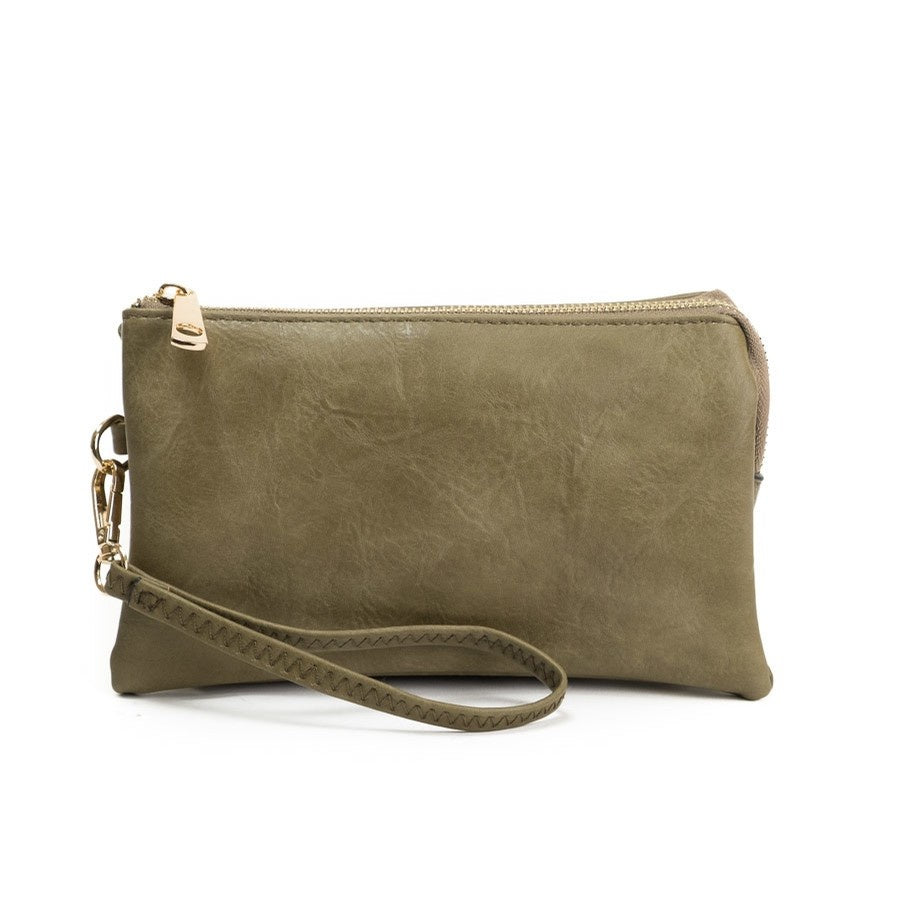 Olive Crossbody Wristlet ($6 to monogram)