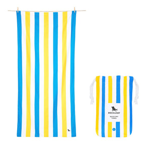 Quick Dry Towels - Striped - Summer/Extra Large - Sandy Toes