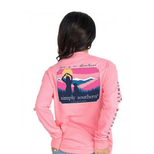 Youth Love (Flamingo) Long Sleeve Simply Southern Tee
