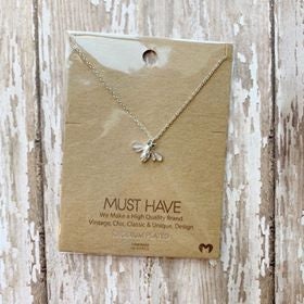 Rhinestone Bee Necklace