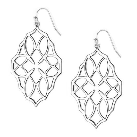 Believer Large Drop Earrings - Rhodium