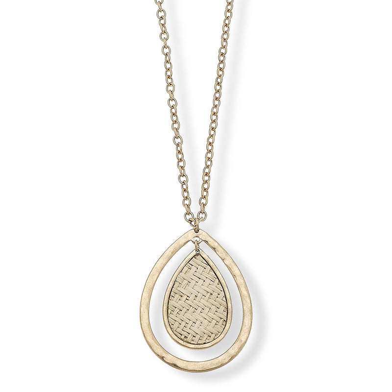 Lara Raffia Pendant Necklace