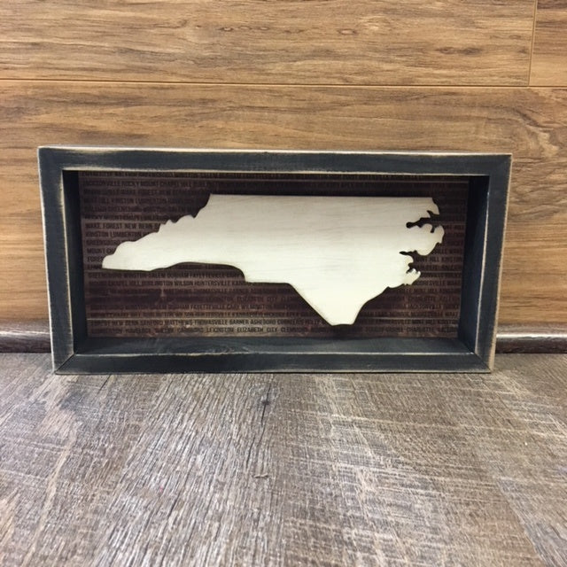 North Carolina Box Sign