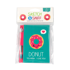 Sketch & Sniff Donut Scented Note Pad & Gel Pen