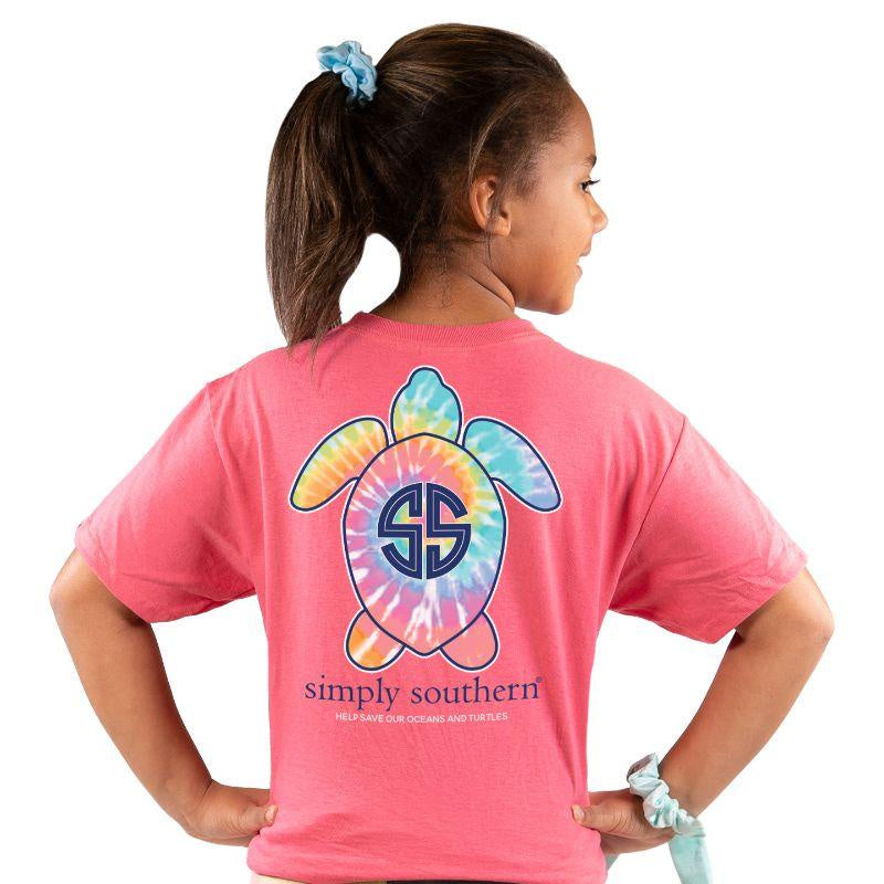 Youth Save Our Oceans and Turtles (Begonia) Simply Southern Tee