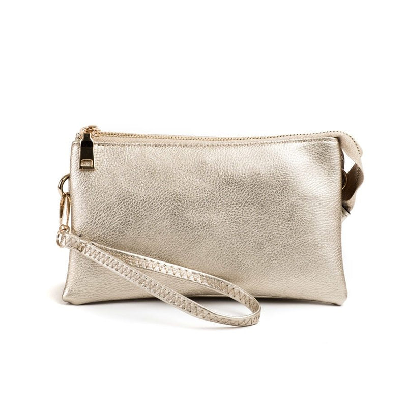 Riley Light Gold Wristlet Crossbody ($6 to monogram)