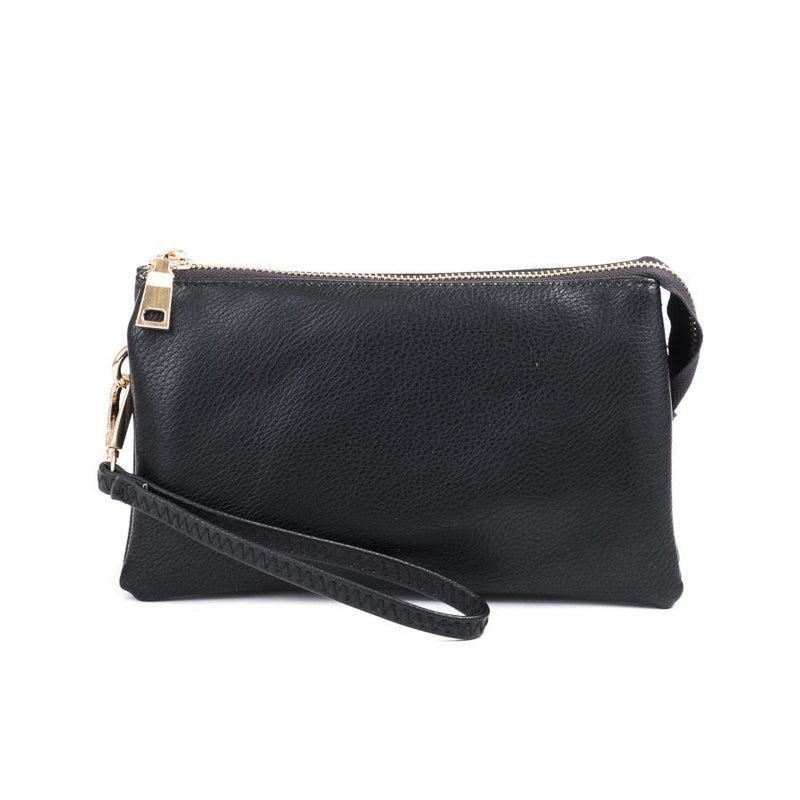 Riley Black Wristlet Crossbody ($6 to monogram)
