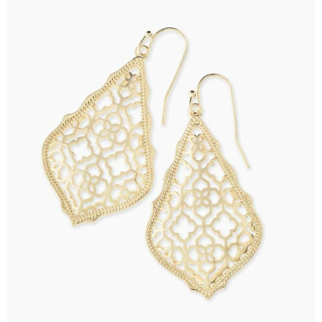 ADDIE DROP EARRINGS - GOLD FILIGREE