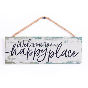 WELCOME TO OUR HAPPY PLACE STRING SIGN