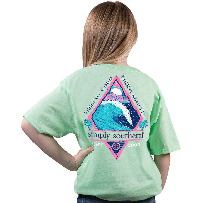 Youth Feeling (Mint) Simply Southern Tee
