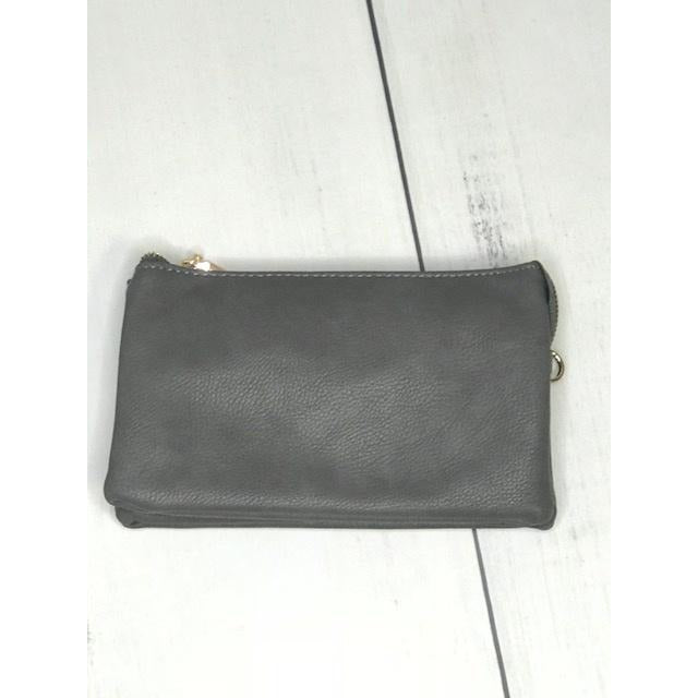 Charcoal Crossbody Wristlet ($6 to monogram)