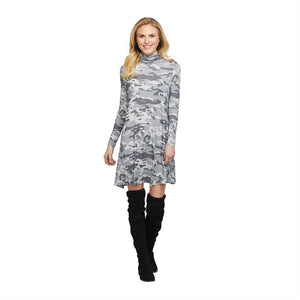 Topher Camo Turtleneck Dress