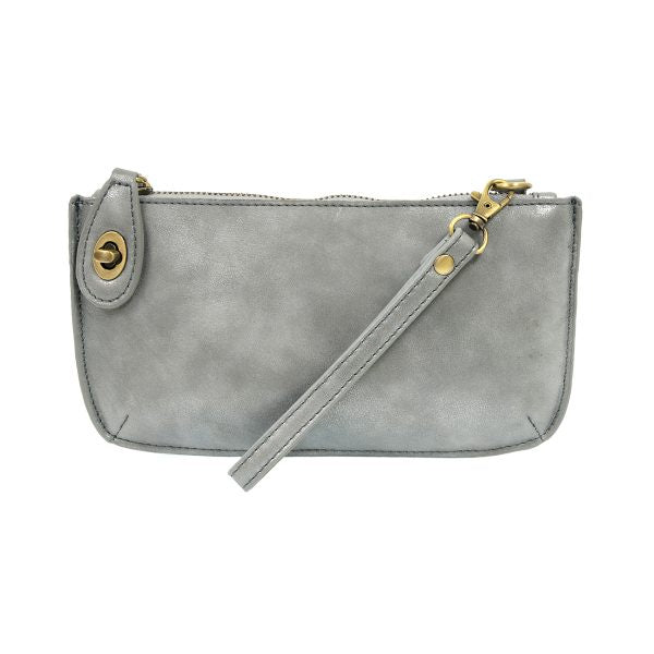 Joy Crossbody Wristlet - Light Denim Lustre Lux