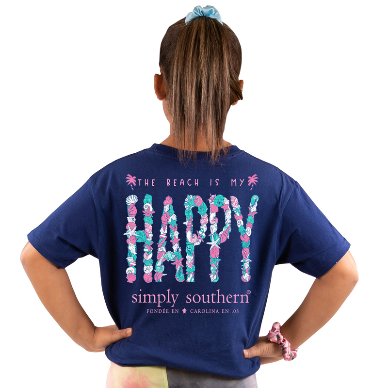 Happy (Navy) Simply Southern Tee