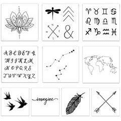 The Inspired Pack Temporary Tattoos