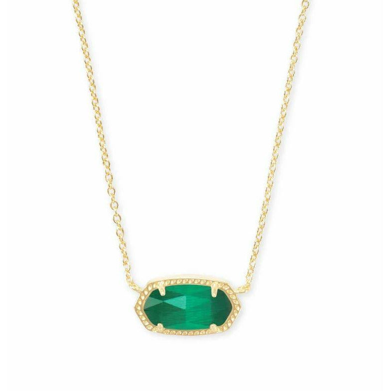 ELISA NECKLACE - GOLD - EMERALD CAT'S EYE
