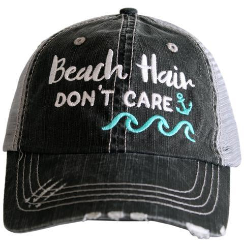 Beach Hair Don't Care Wave/ Anchor Trucker Hat