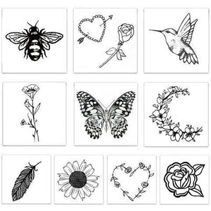 The Embroidered Pack Temporary Tattoos