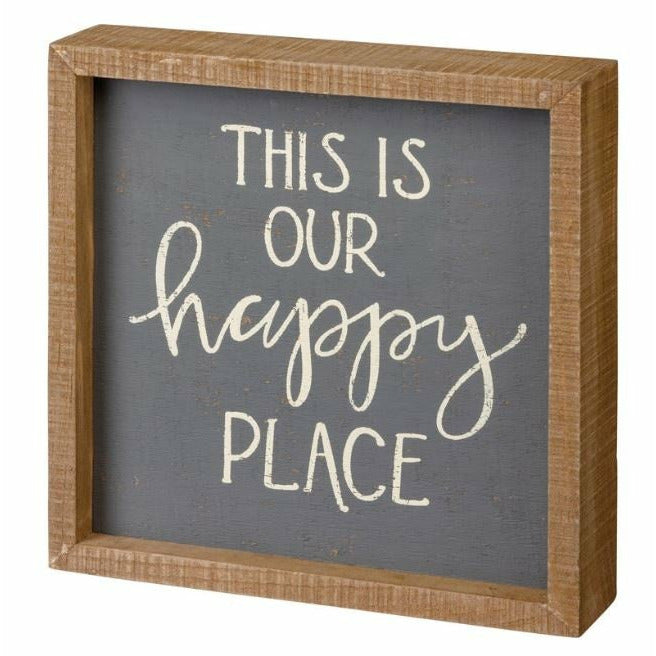Inset Box Sign - This Is Our Happy Place