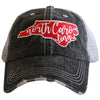 NC State Cut Out Trucker Hat