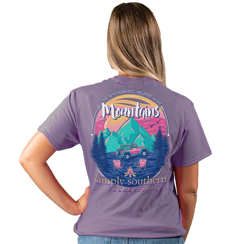 Mountain Memories (Plum) Simply Southern Tee