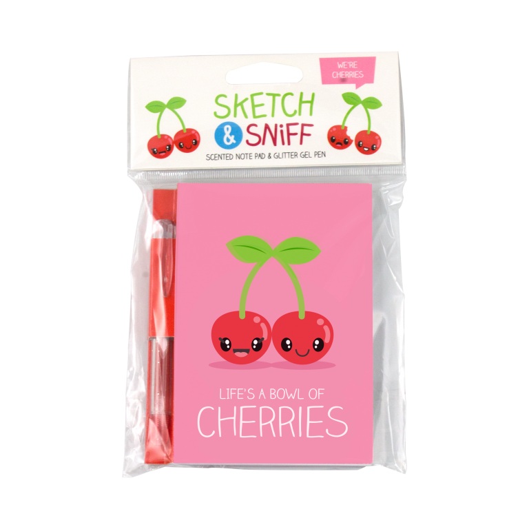 Sketch & Sniff Cherry Scented Note Pad & Gel Pen