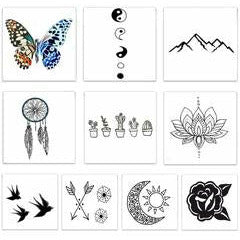 The Free Spirit Pack Temporary Tattoos