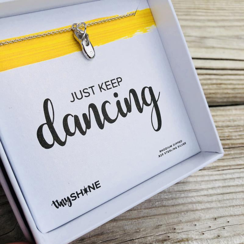 Just Keep Dancing Necklace