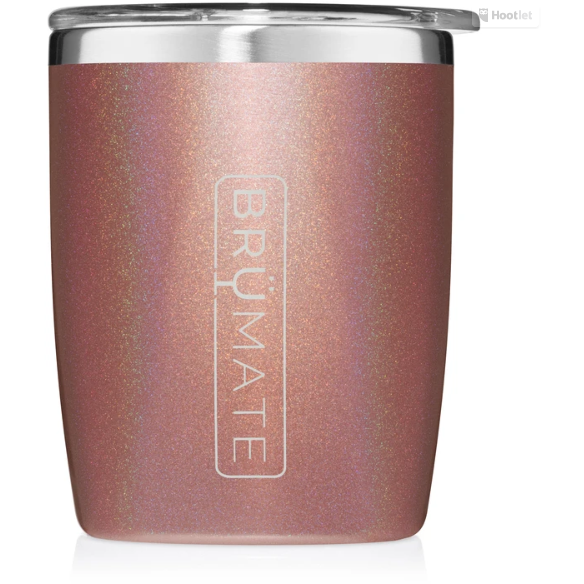 Brumate Rocks Glass - Glitter Rose Gold