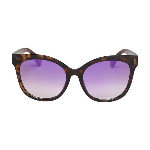Rose Oversized Cat Eye Sunglasses - Colored Mirror Lens