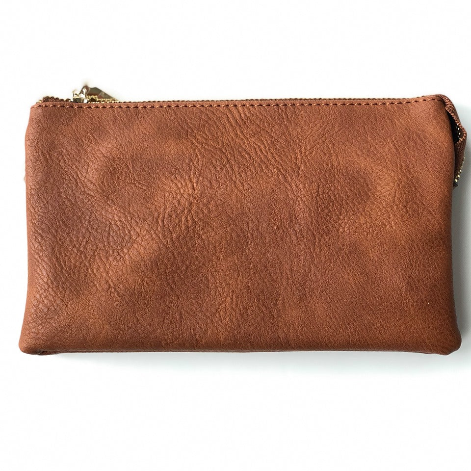 Brown Crossbody Wristlet ($6 to monogram)