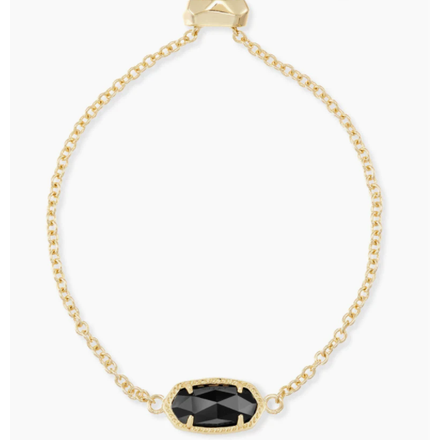 ELAINA ADJUSTABLE CHAIN BRACELET - GOLD - BLACK