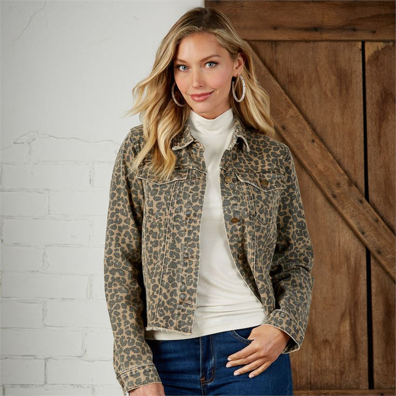 Colton Jacket Tan Leopard
