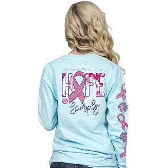 Hope (Marine) Long Sleeve Simply Southern Tee