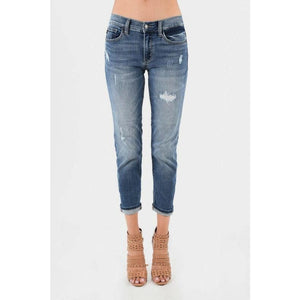 Boyfriend Fit Destroyed Denim Jean