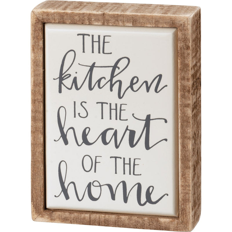 Kitchen is the Heart of the Home Box Sign Mini