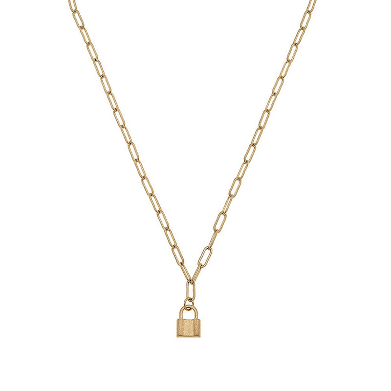 Genesis Mini Padlock Charm Necklace