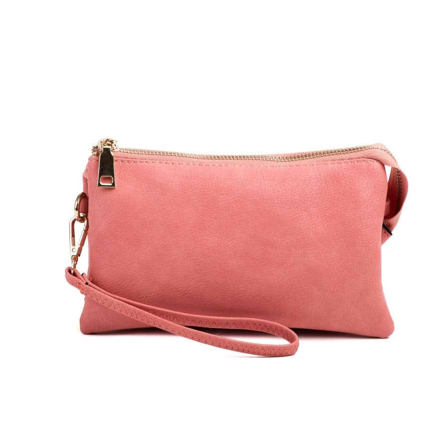 Peach Wristlet Crossbody ($6 to monogram)